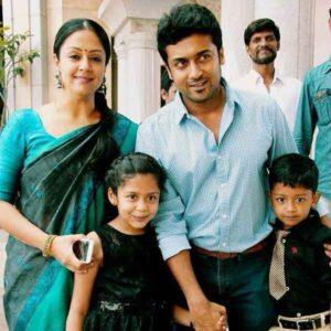 Jyothika Daughter (s) :-Diya Son (s) :-Dev Husbcand :- Suriya (m. 2006)