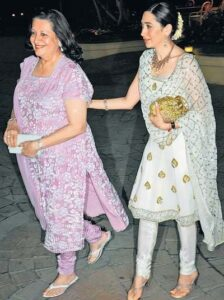 Karisma Kapoor with mother