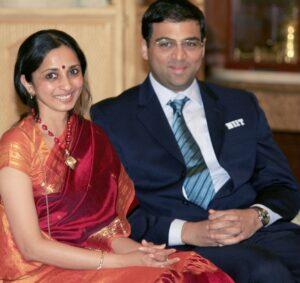 Chess Grand Master Viswanathan Anand Wife :-(Aruna Anand) m. 1996