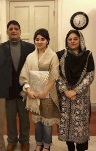 Zaira Wasim's parents