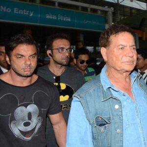 Sohail Khan with father