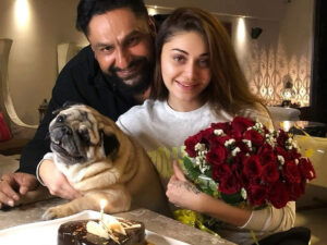 Parag Tyagi is with his wife