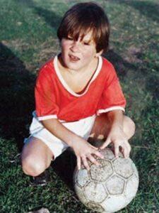 Lionel Messi's childhood image